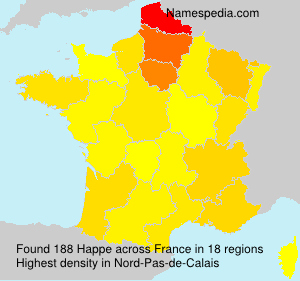 Surname Happe in France