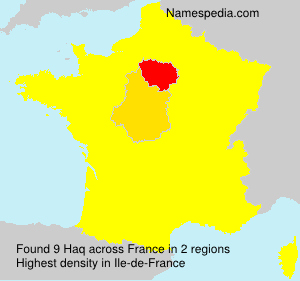 Surname Haq in France
