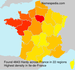 Surname Hardy in France