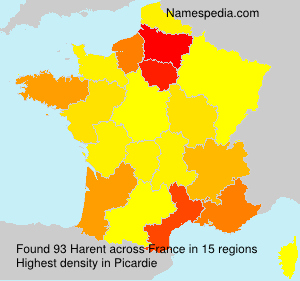 Surname Harent in France