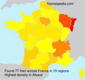 Surname Hari in France