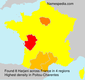 Surname Harjani in France