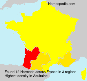 Surname Harmach in France
