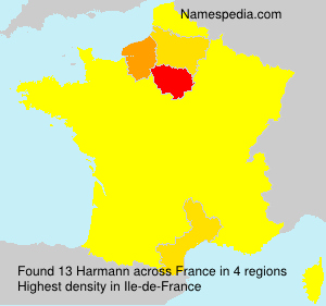 Surname Harmann in France