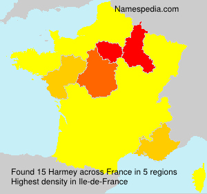 Surname Harmey in France