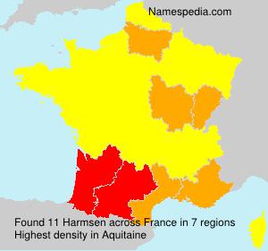 Surname Harmsen in France