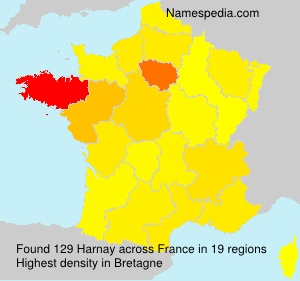 Surname Harnay in France