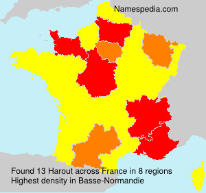 Surname Harout in France