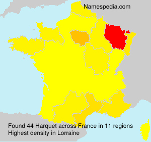 Surname Harquet in France
