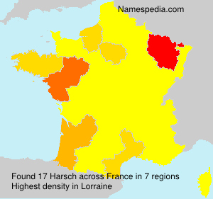 Surname Harsch in France