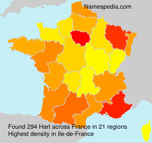 Surname Hart in France