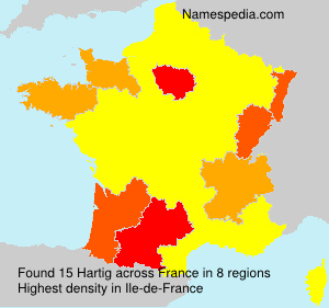 Surname Hartig in France