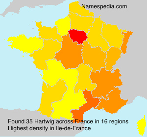 Surname Hartwig in France
