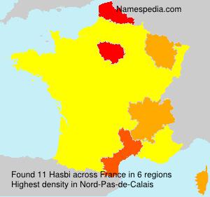 Surname Hasbi in France