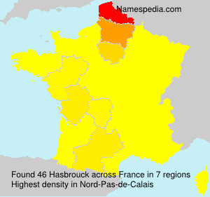 Surname Hasbrouck in France
