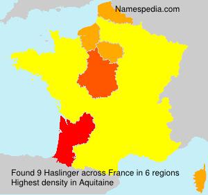 Familiennamen Haslinger - France