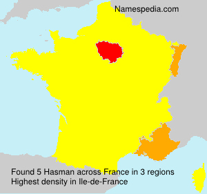 Surname Hasman in France