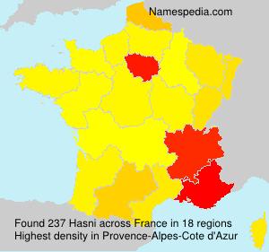 Familiennamen Hasni - France