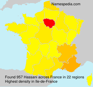 Surname Hassani in France