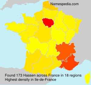 Surname Hassen in France