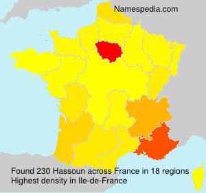Surname Hassoun in France