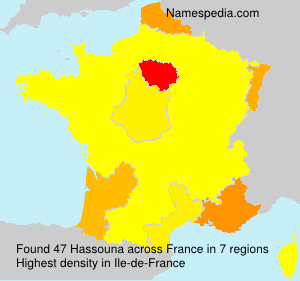 Surname Hassouna in France