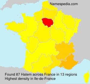 Surname Hatem in France