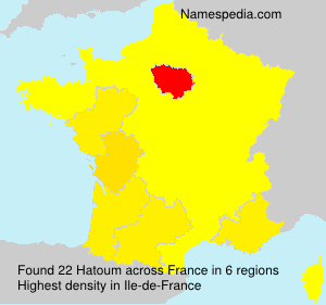 Surname Hatoum in France
