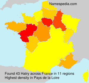 Surname Hatry in France