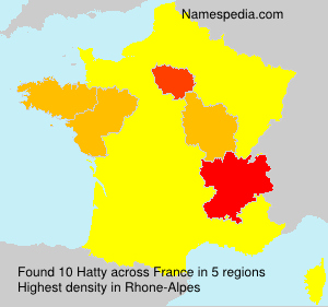 Surname Hatty in France