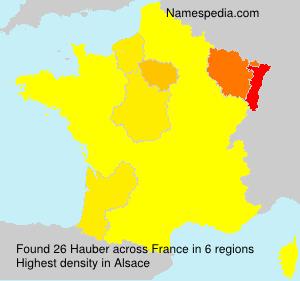 Surname Hauber in France
