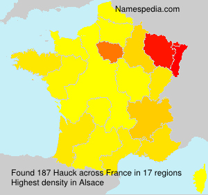 Surname Hauck in France