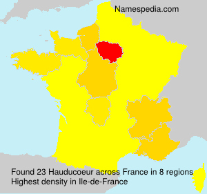 Surname Hauducoeur in France