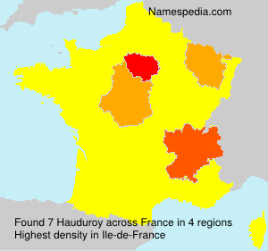 Surname Hauduroy in France