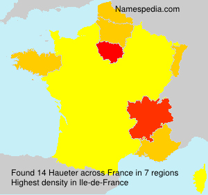 Surname Haueter in France