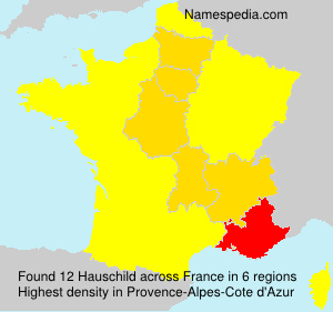 Surname Hauschild in France