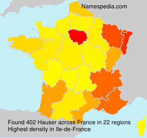 Surname Hauser in France