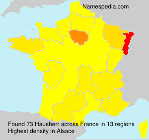 Surname Hausherr in France