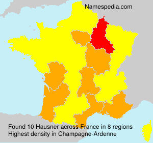 Surname Hausner in France