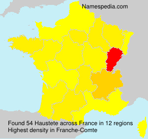 Surname Haustete in France