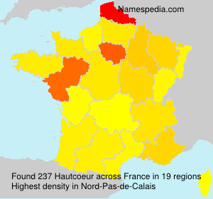 Surname Hautcoeur in France