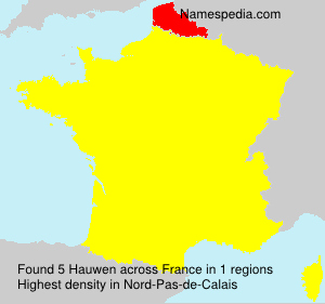 Surname Hauwen in France