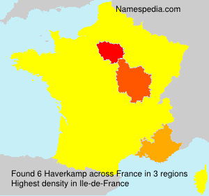 Surname Haverkamp in France