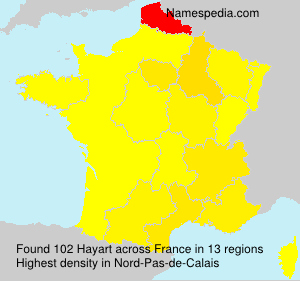 Surname Hayart in France