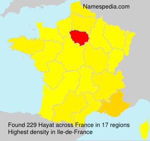 Surname Hayat in France