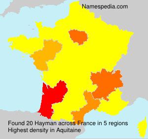Surname Hayman in France
