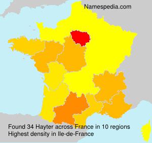 Surname Hayter in France