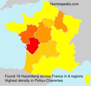 Surname Hazenberg in France
