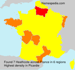 Surname Heathcote in France