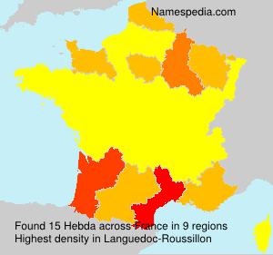 Surname Hebda in France